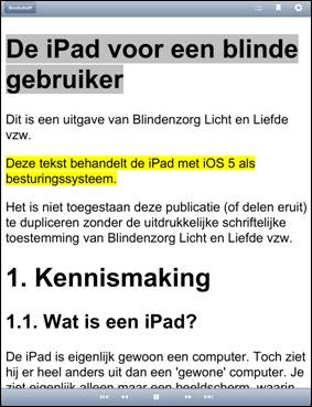 Read2Go leesvenster screenshot