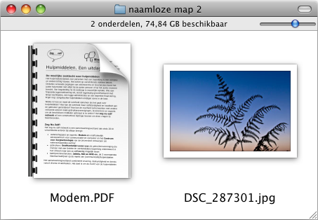 Screenshot aangepaste pictogrammen